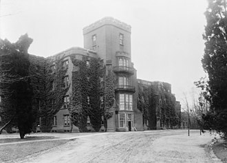 St. Elizabeths Hospital - The Center Building at St. Elizabeths, one of the oldest on the campus, as it appeared in the early 20th Century