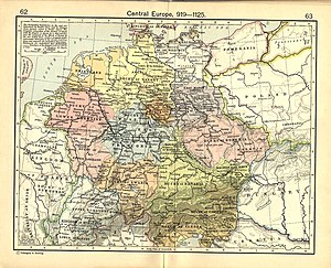 Duchy of Bohemia - Duchy of Bohemia within Central Europe in 919-1125