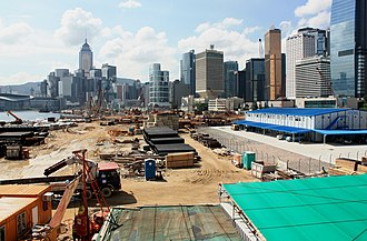Central and Wan Chai Reclamation - Central Reclamation Phase 3 during June 2009
