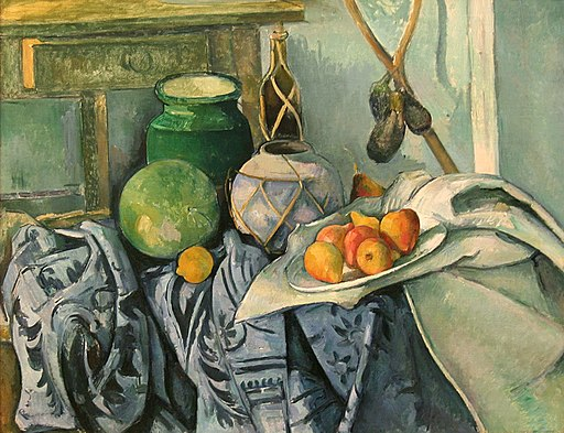 Cezanne, Still life with a Ginger Jar and Eggplants