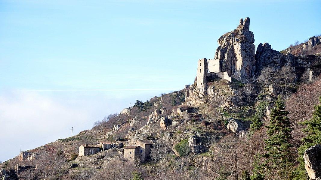 Château de Rochebonne depuis Latte.