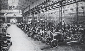 Automotive industry - Citroën assembly line in 1918