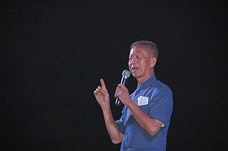 Chamlong Srimuang - Maj. Gen. Chamlong Srimuang at Leadership School, Kanchanaburi