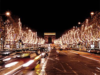 8th arrondissement of Paris - The Champs-Élysées in the 8th arrondissement during the Christmas season.