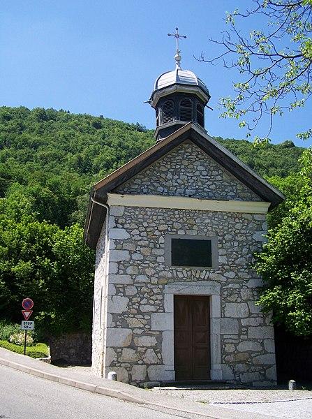 La chapelle de Létraz (1837) chapel, belonging to the French commune of Sevrier near Annecy in Haute-Savoie.