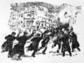 Charge de la police à Bruxelles lors d'émeutes socialistes - La réforme - 09 avril 1902.png