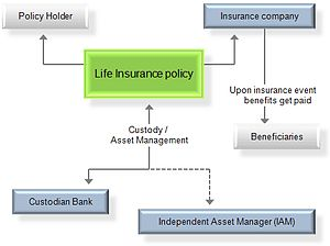 Life insurance - Chart of a life insurance