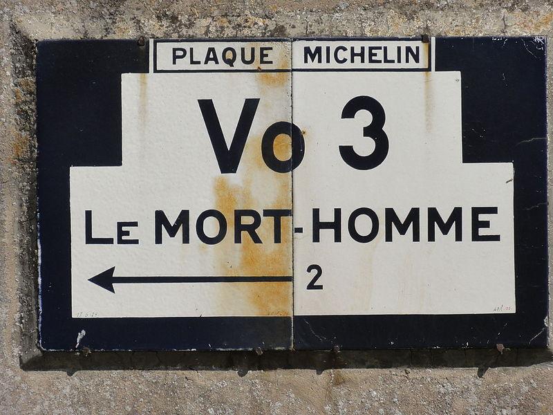 Chattancourt (Meuse) ancienne plaque Michelin - Le Mort-Homme