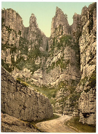 Helm's Deep - Cheddar Gorge in the 1890s