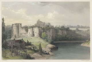 Chepstow Castle, from the bridge
