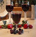 Cherry juice 2 tall 1 short glass 259A7251.jpg