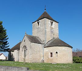 The church in Chevigny-Saint-Sauveur