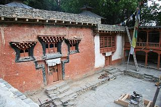 Chhairo gompa Tibetan Buddhist monastry in Mustang, Nepal