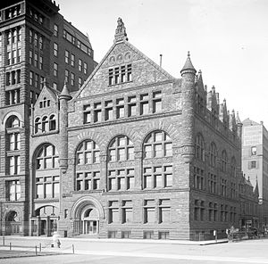 Chicago Club - The Burnham & Root-designed building, originally constructed for the Art Institute of Chicago, which became the Club's headquarters from 1893-c.1928
