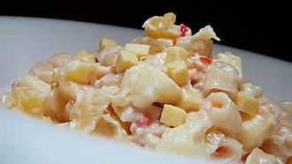 Macaroni salad - Image: Chicken macaroni salad
