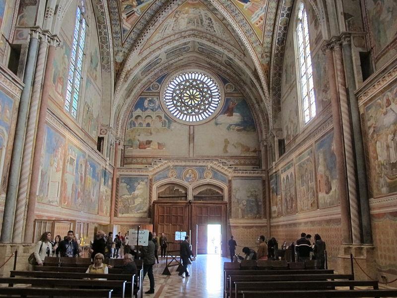 File:Chiesa superiore di san francesco, controfacciata 01.JPG