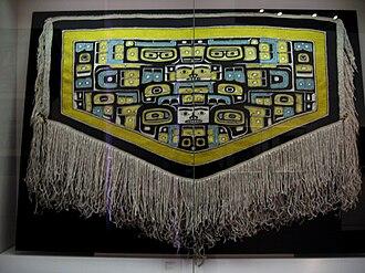 Alaska Native art - Chilkat blanket, collection of the University of Alaska Museum of the North