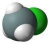 Spacefill model of chlorosilane