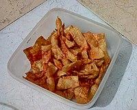 Cholafali Gujarati fluffy snack from India.JPG