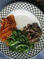 Chopped capsicum, mushroom and carrot in a plate 03.jpg