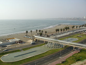 Chorrillos District - View of the Chorrilos coastal area