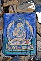 Chorten Buddha decoration along the Friendship Highway, Tibet on 19 May 2014.jpg