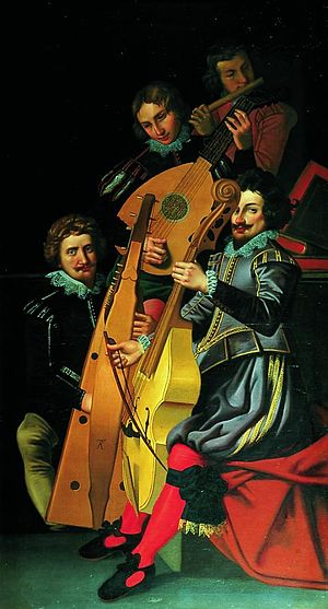 Reinhold Timm - Christian IV's musicians painted by Reinhold Timm in 1622