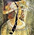 Christo Coetzee - Garden Party Portrait of Marjore Long (1985).jpg