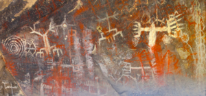 Burro Flats Painted Cave - Image: Chumash Paintings Simi Valley