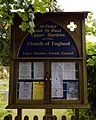 Church of St Peter and St Paul Upper Hardres Kent England - exterior notice board.jpg