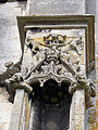 Church of the Holy Cross Great Ponton Lincolnshire England - tower niche gable 1.jpg