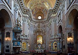 Church of the Transfiguration of Our Lord (interior), 2 Pijarska street, Old Town, Krakow, Poland