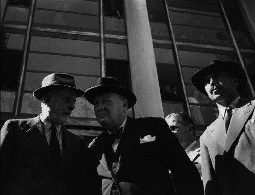 Churchill and Carlo Sforza in Strasbourg 1950