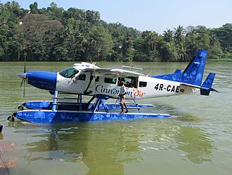 Cinnamon Air - Cinnamon Air Cessna 208 Caravan I on Polgolla Reservoir