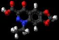 Cinoxacin molecule ball.png