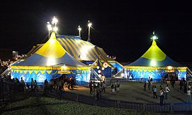 Cirque du Soleil's Grand Chapiteau at night