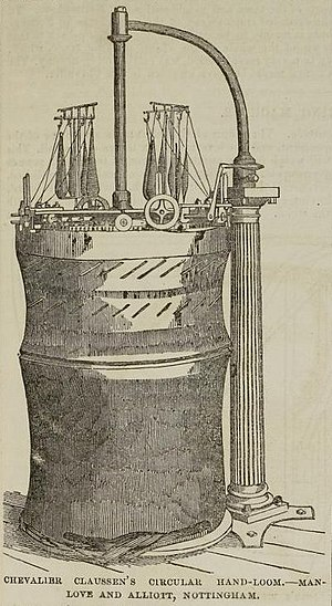 Capital, Volume I - Chevalier Claussen's circular hand-loom