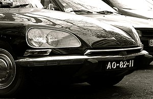 "Robert Opron - Citroën DS ""Nouveau Visage"" from 1967, with directional headlamps"