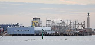 Clarence Pier - The pier viewed from gosport