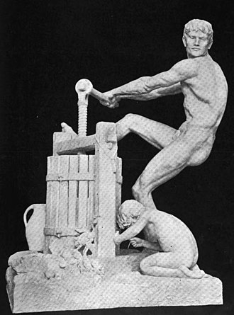 Thomas Shields Clarke - The Cider Press, plaster model in an 1892 photograph