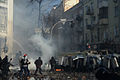 Clashes between protesters and interior troop officers develop in Kyiv, Ukraine. Events of February 18, 2014.jpg