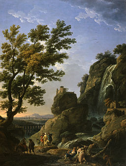 Claude-Joseph Vernet - Landscape with Waterfall and Figures - Walters 372411