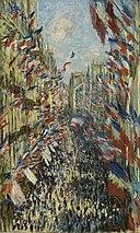 Claude Monet - The Rue Montorgueil in Paris. Celebration of June 30, 1878 - Google Art Project.jpg