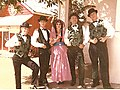Claypipers in costume in front of Pipers Playhouse, Drytown, CA (c)1962.jpg