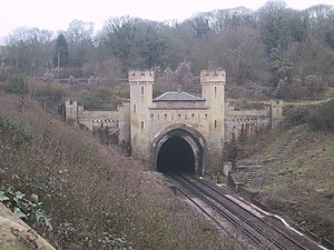 Clayton Tunnel rail crash - The tunnel's north entrance
