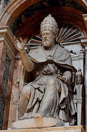 Pope Clement VIII - Statue of Pope Clement VIII in the Basilica di Santa Maria Maggiore