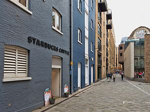 "Prison slang - Clink Street, London. Site of Clink Prison, one of England's oldest prisons and origin of the slang ""In Clink"". Now home to a museum of the prison, the remains of Winchester Palace... and a Starbucks."