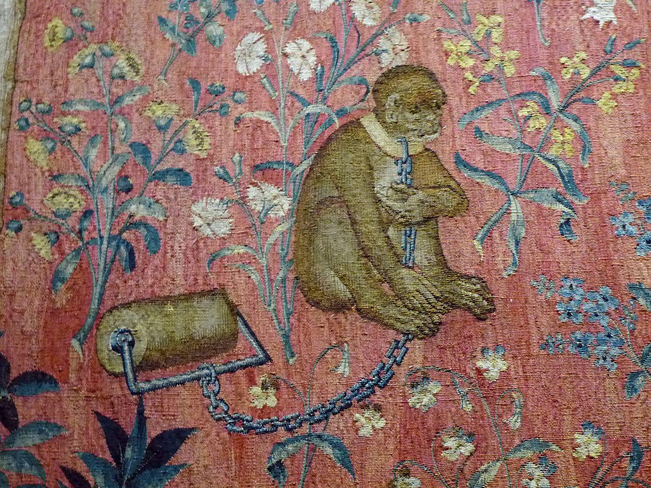 Fichier cluny dame la licorne detail 03 jpg wikip dia - Tapisserie dame a la licorne ...
