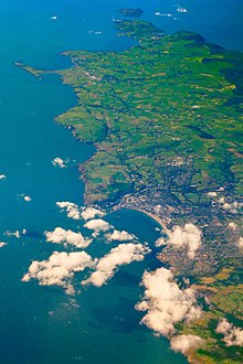 Aerial view of Douglas and the southern half of the Isle of Man Cmglee Douglas Isle of Man aerial view.jpg