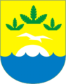 Coat of Arms of Zelenogorsk (St Petersburg) (1998).png